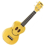 Mahalo U Smile Soprano Uke, Transparent Butterscotch