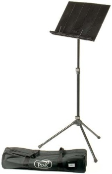 Stand, Music, Peak, Tubular Steel, Black