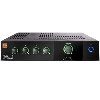 Commercial 4 channel mixer/amp, 120 watts
