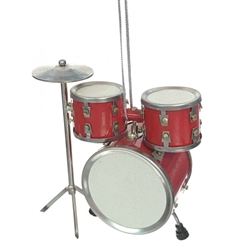 Ornament, Drum Set , Red
